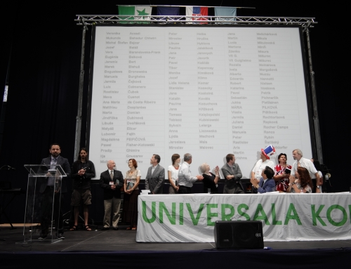 101차 니트라 세계대회의 자원봉사자 명단